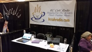 KC Cafe Radio's booth at the 2016 Folk Alliance International Conference