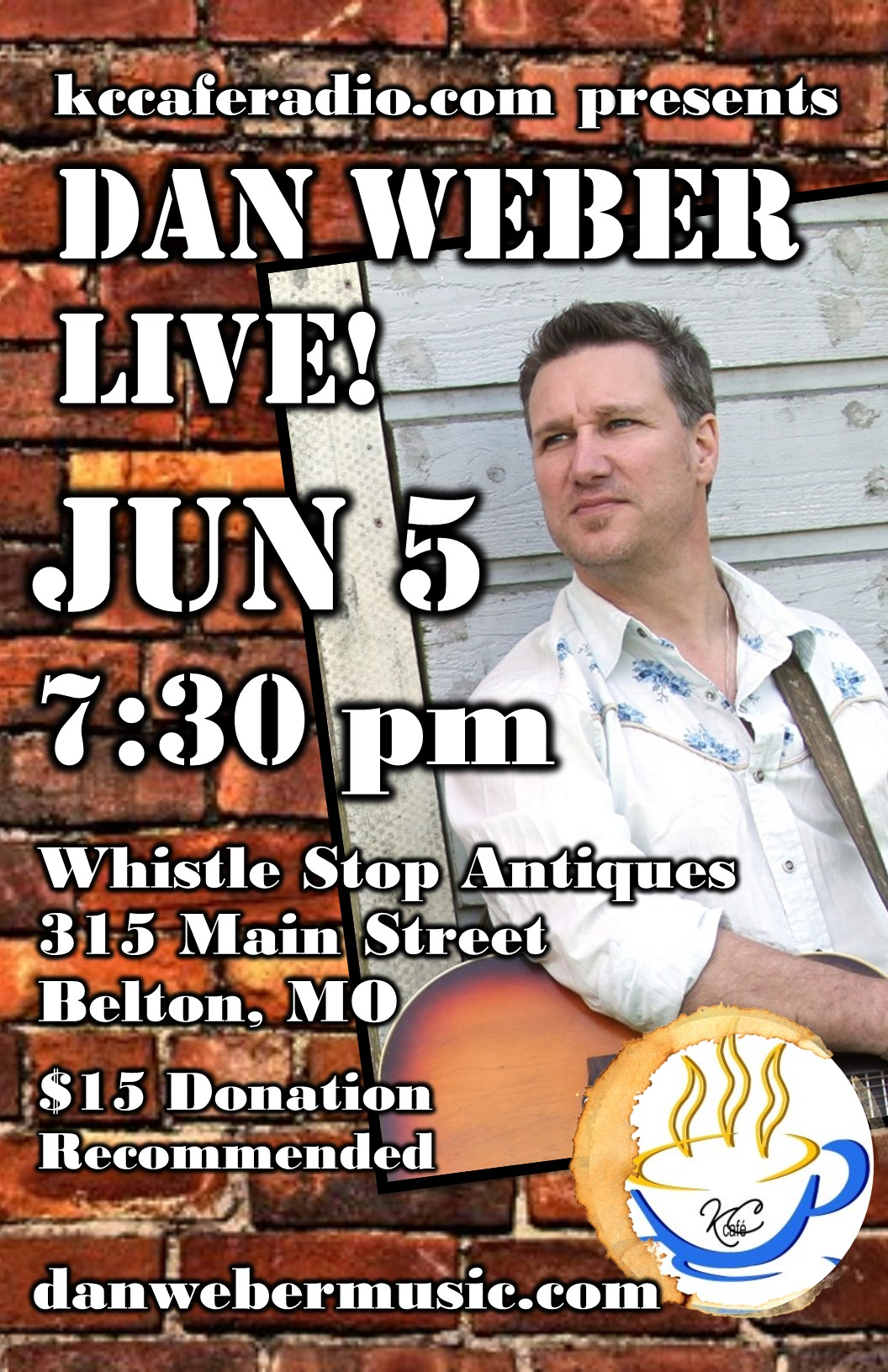 KC Cafe Radio Concert Series: Dan Weber Saturday, June 5, 2015