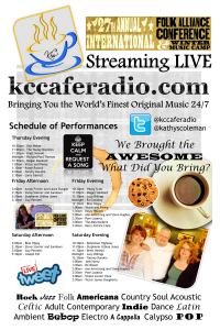 KC Cafe Radio Live Coverage Schedule at the 2015 Folk Alliance International Conference